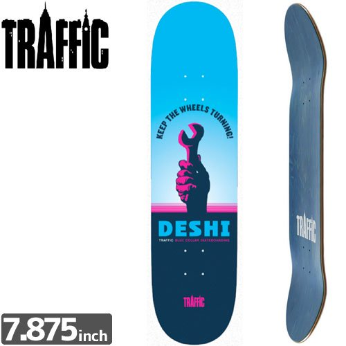 【TRAFFIC トラフィック スケボー デッキ】DESHI WORKING CLASS DECK[7.8インチ]NO3