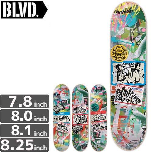 【ブルーバード BLVD スケートボード デッキ】LOCALS DECK[8.1インチ][8.2インチ]NO10