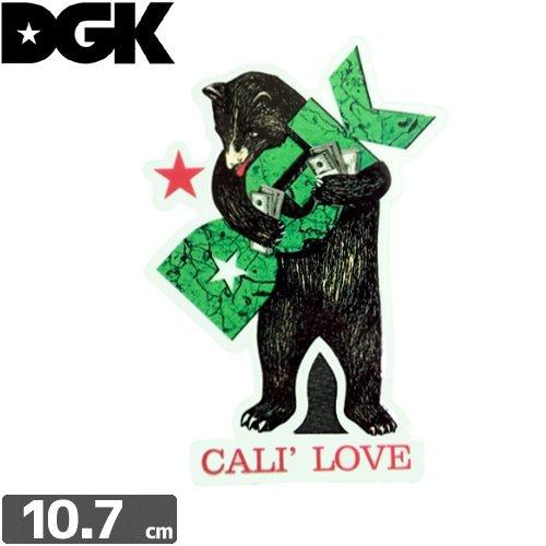 【ディージーケー DGK スケボー ステッカー】CALI LOVE STICKER【10.2cm×7.7cm】N92