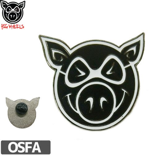 【PIG ピッグ STICKER ピンバッチ】PIG HEAD LAPEL PIN【3cmx3.3cm】NO1