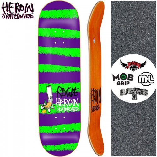 【HEROIN SKATEBOARDS ヘロイン デッキ】ROGIE STRIPED ICON DECK[8.7インチ]NO24