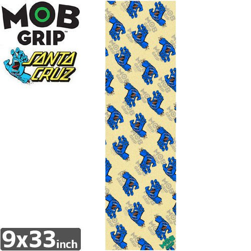 【モブグリップ MOB GRIP デッキテープ】SCREAMING HAND PATTERN CLEAR GRIPTAPE【SANTA CRUZ】【9 x 33】NO154