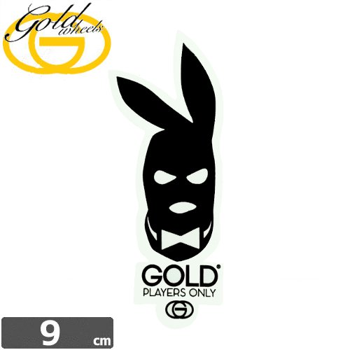 【ゴールド GOLD STICKER スケートボード ステッカー】PLAYERS CLUB【9cm x 2.6cm】 NO35