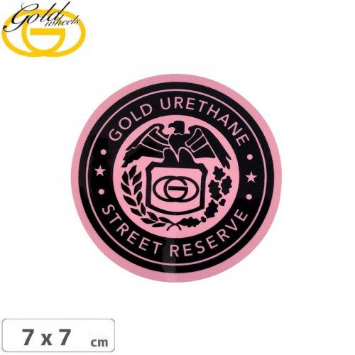【ゴールド GOLD STICKER スケートボード ステッカー】STREET RESERVE【7cm x 7cm】 NO36