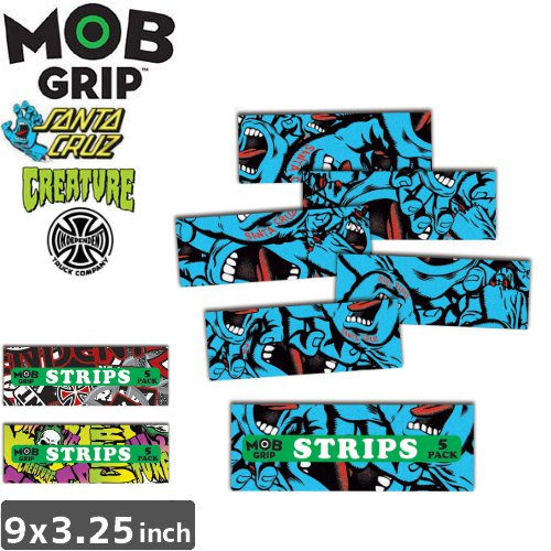 【モブグリップ MOB GRIP デッキテープ】STRIPS GRIP TAPE 5PACK【9 x 3.25】NO133