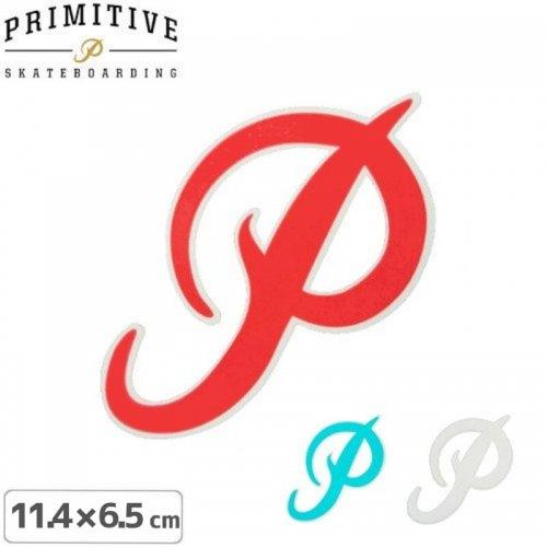 【プリミティブ PRIMITIVE スケボー ステッカー】P LOGO【3色】【11.4cm×6.5cm】NO16