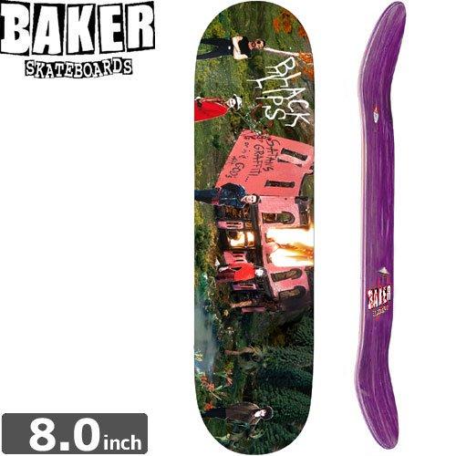 【ベーカー BAKER スケボー デッキ】THE BLACK LIPS DECK[8.0インチ]NO152