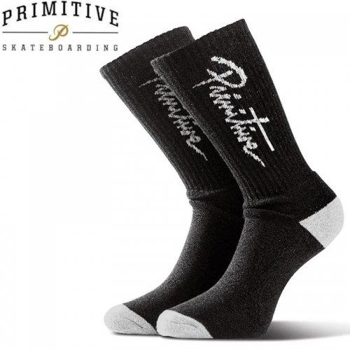 【プリミティブ PRIMITIVE スケボー ソックス】APPAREL NUEVO SOCKS【ブラック×ホワイト】NO3