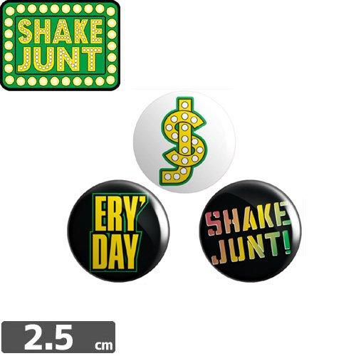 【シェイクジャント SHAKE JUNTスケボー ピンバッチ】OPP Pins 3pk【2.5cm x 2.5cm】NO2