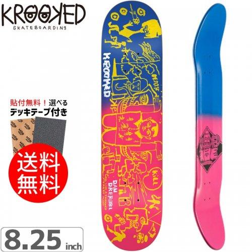 【クルックド KROOKED スケボー デッキ】DREHOBL FADED DECK[8.2インチ]NO91