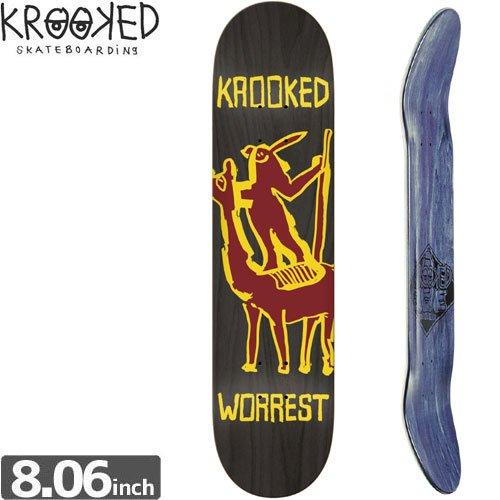 【クルックド KROOKED スケボー デッキ】WORREST CAVOLEER DECK[8.0インチ]NO96