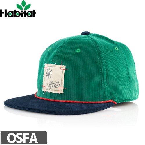 【ハビタット HABITAT スケボー キャップ】Habitat X Official Cord Green【グリーン】NO17