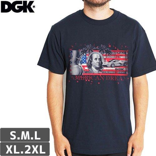 【DGK ディージーケー スケボー Tシャツ】AMERICAN DREAM TEE【ネイビー】NO300