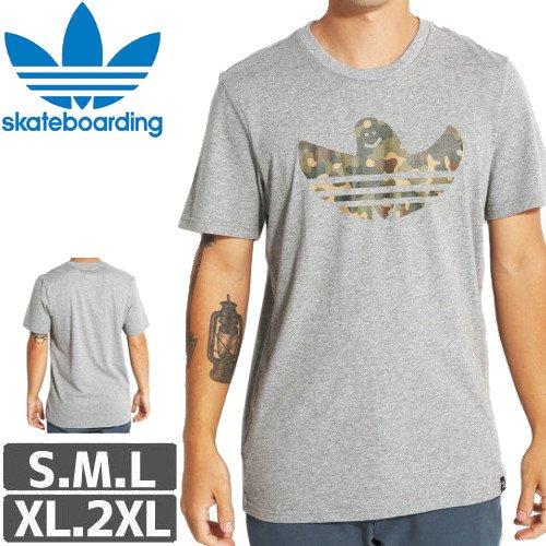 【アディダス ADIDAS SKATEBOARDING Tシャツ】CAMO SHMOO TEE【グレー】NO31