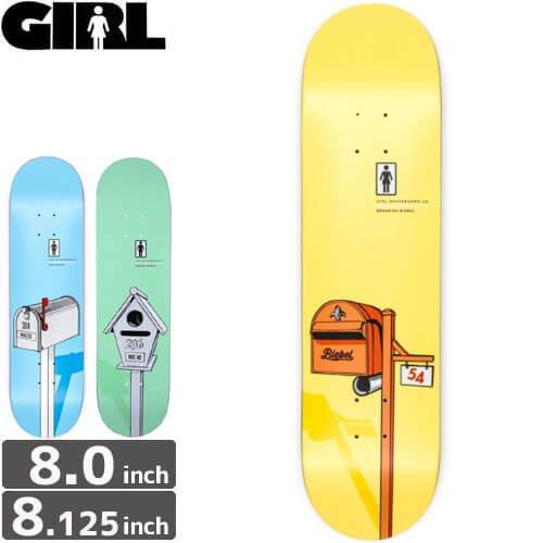 【ガール GIRL スケボーデッキ】LETTERBOX DECK [8.0インチ][8.1インチ]NO199