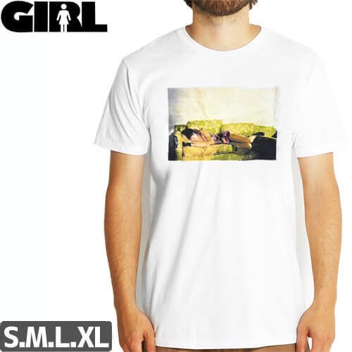 【ガール GIRL SKATEBOARDS Tシャツ】GIRL SPIKE  KAREN O PREM TEE【ホワイト】NO283
