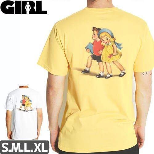 【ガール GIRL SKATEBOARDS Tシャツ】GIRL STORYBOOK STD TEE【ホワイト】【クリームイエロー】NO284