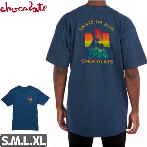 【チョコレート CHOCOLATE Tシャツ】SKATE DUB【ネイビー】NO164