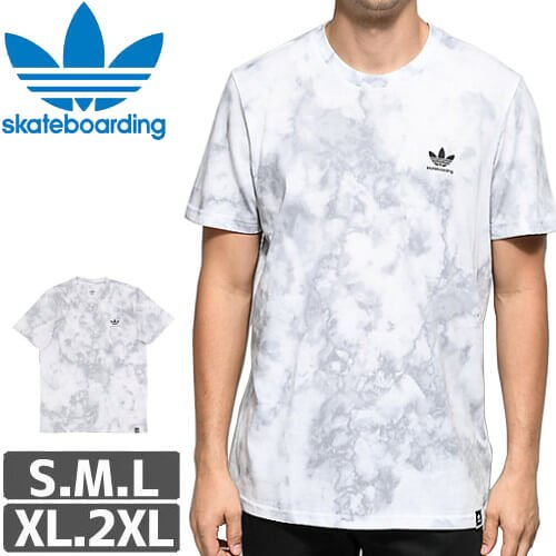 【アディダス ADIDAS SKATEBOARDING Tシャツ】CLIMA 2.0 QUARTZ TEE【ホワイトグレー】NO32