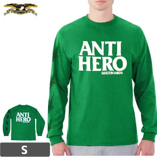 【アンタイヒーロー ANTIHERO スケボー ロンT】BLACKHERO SLVK【グリーン】NO02