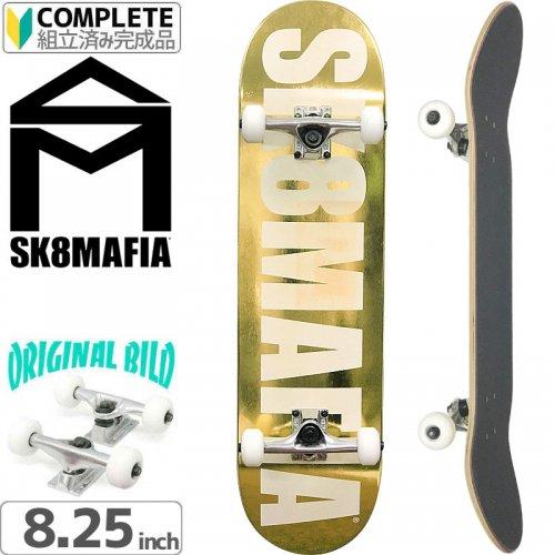 【スケートマフィア SK8MAFIA スケートボード コンプリート】OG LOGO GOLD[8.25インチ]オリジナルビルド NO4