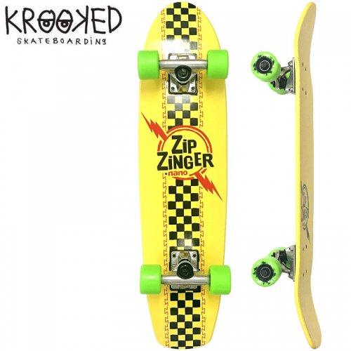 【クルックド KROOKED スケートボード コンプリート】ZIP ZINGER NANO DECK[7.3インチ]オリジナルビルド NO4