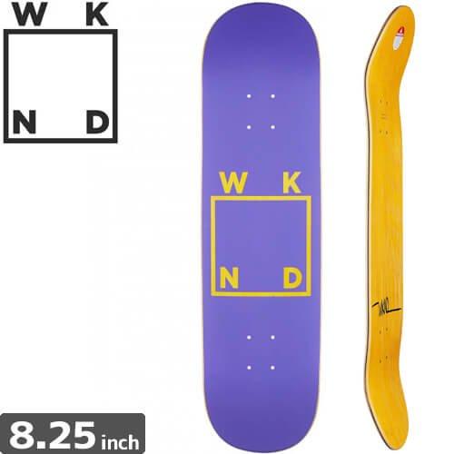 【ウィークエンド WKND スケボー デッキ】Logo Purple Deck[8.2インチ]NO9