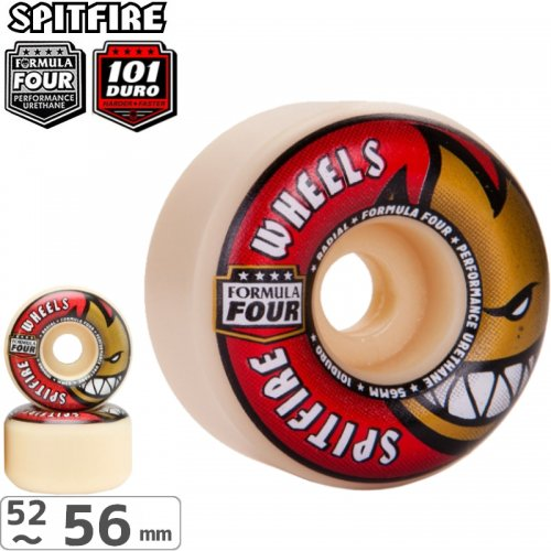【SPITFIRE スピットファイア ウィール】FORMULA FOUR RADIALS 101D【52mm】【54mm】NO208