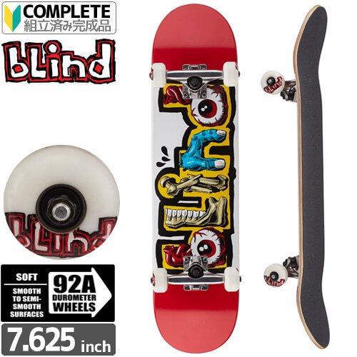 【ブラインド BLIND スケートボード コンプリート】Slime Red Complete 92A【7.625インチ】NO100