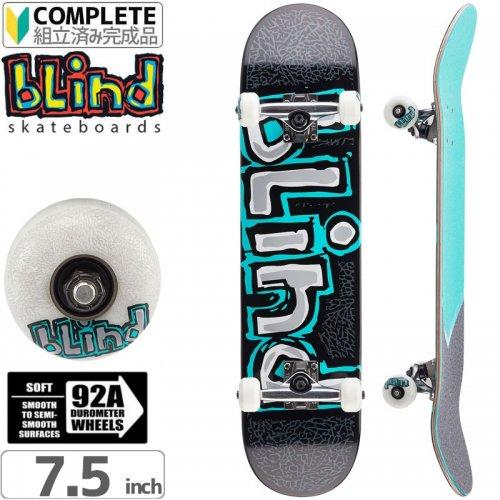 【ブラインド BLIND スケートボード コンプリート】OG Matte Mint/Silver Complete 92A[7.875インチ]NO102