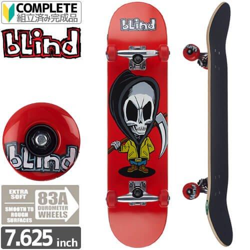 【ブラインド BLIND スケートボード コンプリート】Bone Thug Red w/Soft Wheels Complete 83A[7.625インチ]NO105