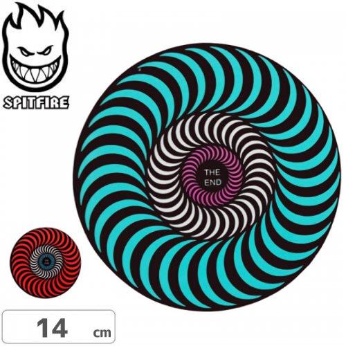 【スピットファイア SPITFIRE スケボー ステッカー】TRI-COLOR【2色】【14cmx14cm】NO86