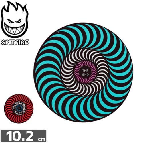 【スピットファイア SPITFIRE スケボー ステッカー】TRI-COLOR【2色】【10.2cmx10.2cm】NO87
