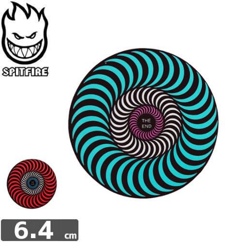 【スピットファイア SPITFIRE スケボー ステッカー】TRI-COLOR【2色】【6.4cmx6.4cm】NO88