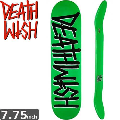【デスウィッシュ DEATH WISH スケボー デッキ】DEATHSPRAY NEON GREEN DECK[7.75インチ]NO64