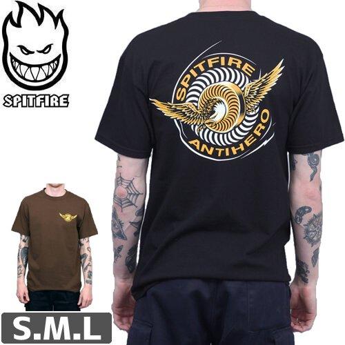 【スピットファイア SPITFIRE スケボー Tシャツ】Spitfire Wheels x Anti Hero Classic Eagle T Shirt NO216