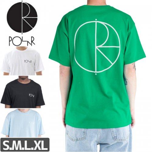 【POLAR ポーラー スケボー Tシャツ】STROKE LOGO TEE【ブラック】【ホワイト】NO2