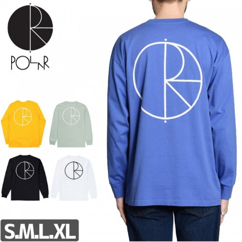 【POLAR ポーラー スケボー ロング Tシャツ】STROKE LOGO L/S TEE【3カラー】NO2