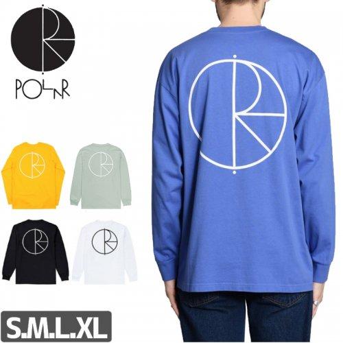 【POLAR ポーラー スケボー ロング Tシャツ】STROKE LOGO L/S TEE【5カラー】NO2