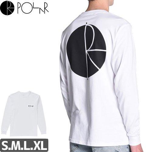 【POLAR ポーラー スケボー ロング Tシャツ】FILL LOGO L/S TEE【ホワイトxブラック】NO3