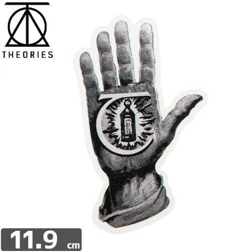 【セオリーズ THEORIES ステッカー】HAND OF THEORIES【11.9cm x 7cm】NO8