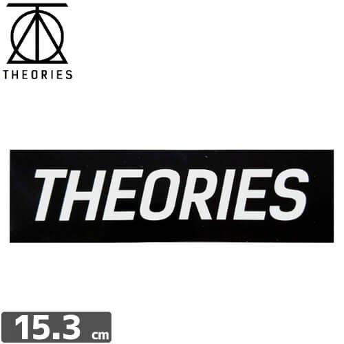 【セオリーズ THEORIES ステッカー】LOGO【4.4cm x 15.3cm】NO10