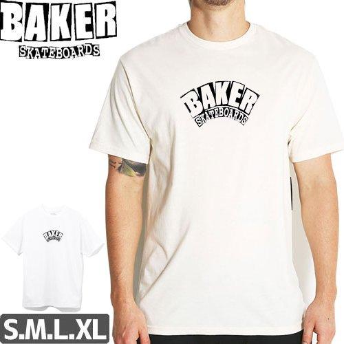 【BAKER ベーカー スケボー Tシャツ】Arch T-Shirt【ホワイト】NO59