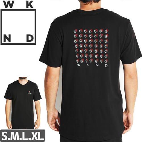 【ウィークエンド WKND スケボー Tシャツ】Fire Power Tee【ブラック】NO7
