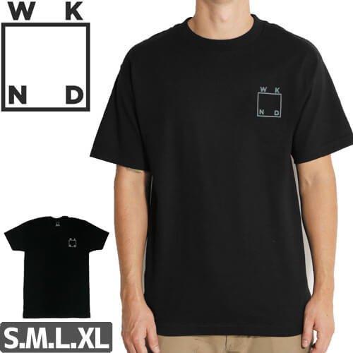 【ウィークエンド WKND スケボー Tシャツ】Logo Tee【ブラック×シルバー】NO8