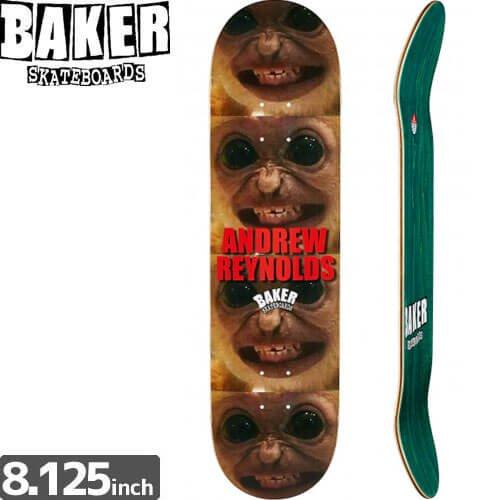 【ベーカー BAKER スケボー デッキ】ANDREW REYNOLDS CRAZY MONKEY DECK[8.125インチ]NO161