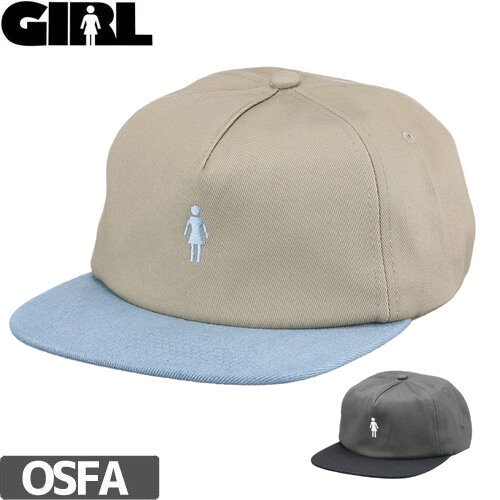 【GIRL ガールスケートボード キャップ】Girl Micro OG Strapback Hat【2カラー】NO76