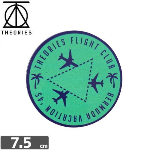 【セオリーズ THEORIES ステッカー】FLIGHT CLUB【7.5cm x 7.5cm】NO14
