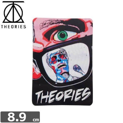 【セオリーズ THEORIES ステッカー】HORROR VENDING【8.9cm x 6.1cm】NO17