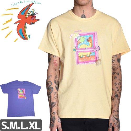【ILLEGAL CIVILIZATION イリーガル シヴィライゼーション スケボー Tシャツ】MOST DOPE TEE【イエロー】【パープル】NO3
